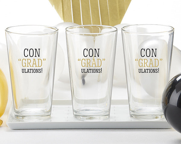 congradulations pint glasses set of 4