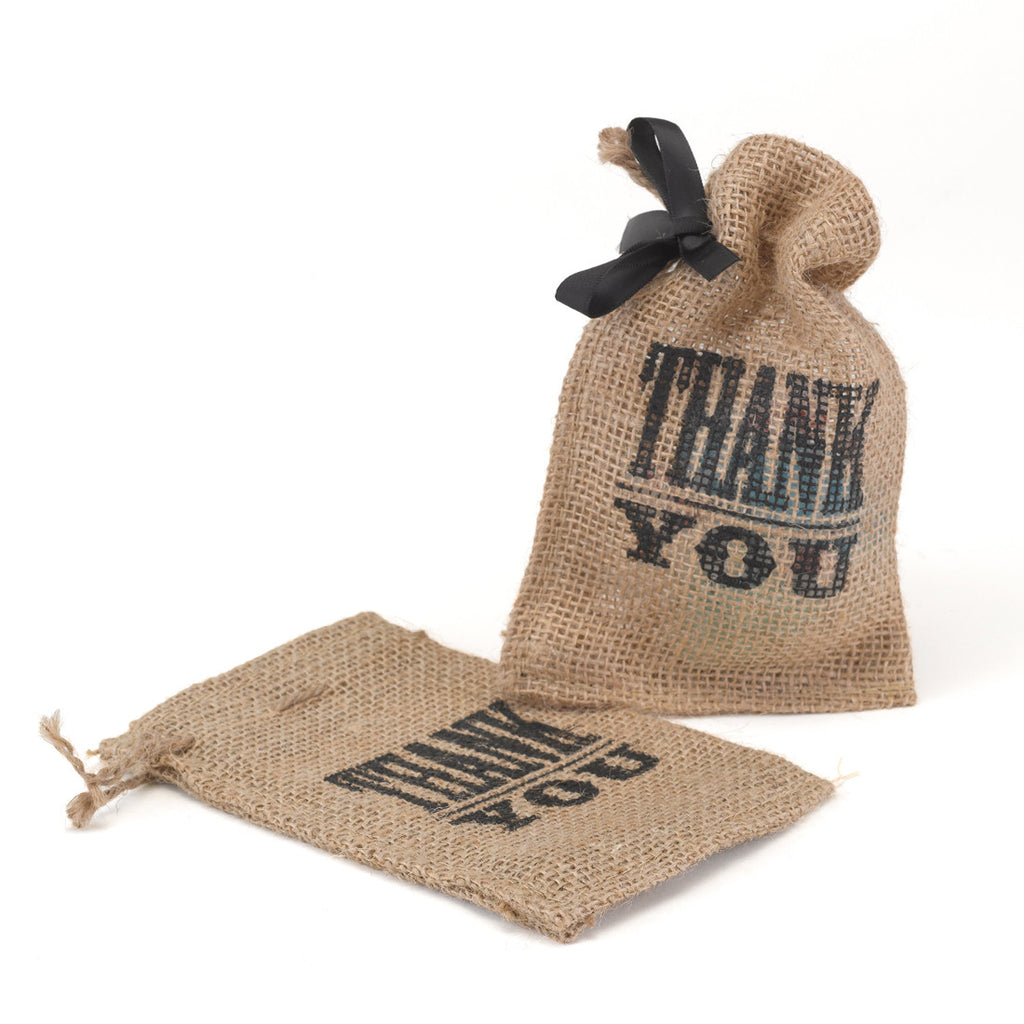 Thank You Burlap Favor Bags