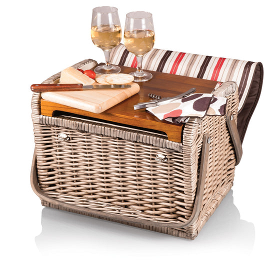 Kabrio Wine and Cheese Picnic Basket - Moka | Premier Home & Gifts