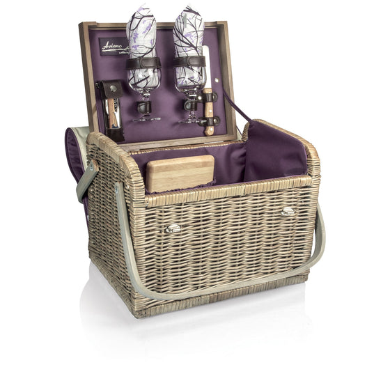 Kabrio Wine and Cheese Picnic Basket - Aviano | Premier Home & Gifts
