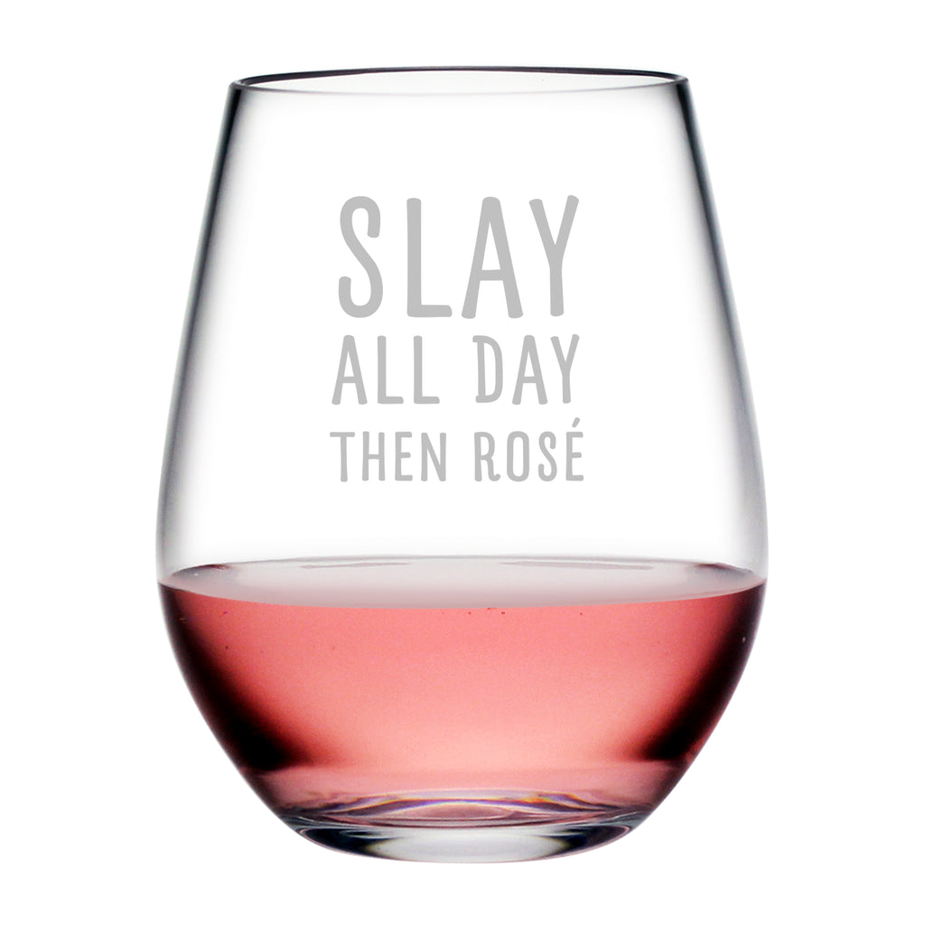 Slay All Day Tritan™ Shatterproof Stemless Tumblers
