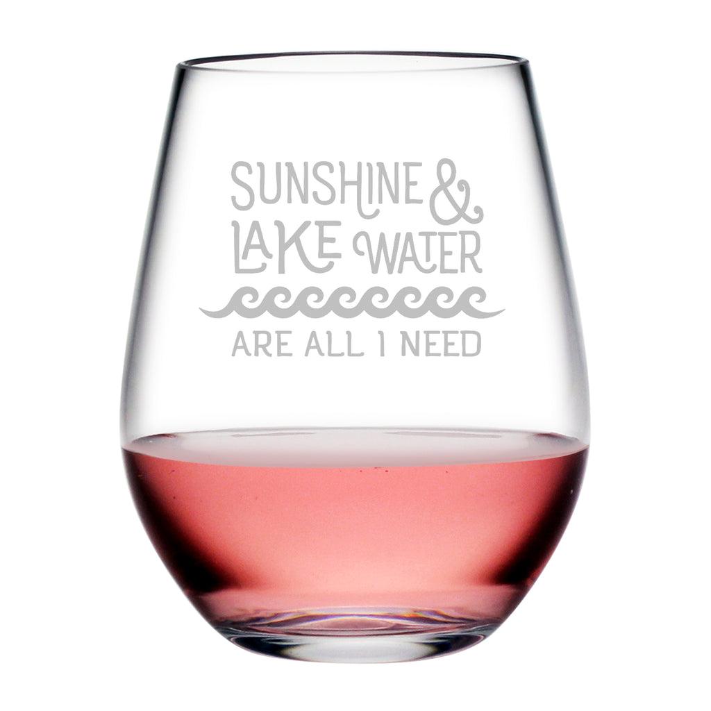 Sunshine and Lake Water Tritan™ Shatterproof Stemless Tumblers