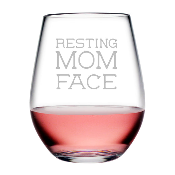 Resting Mom Face Tritan™ Shatterproof Stemless Tumblers - Gifts for Mom