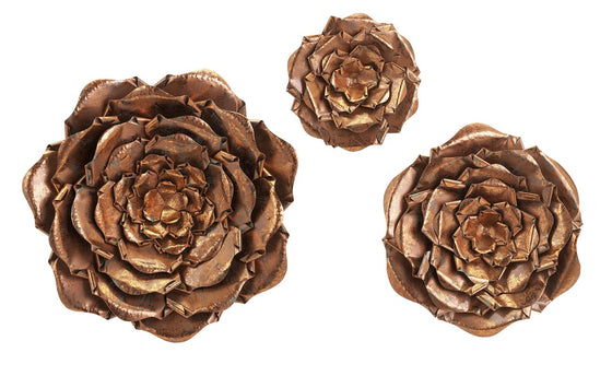 Penny Copper Metal Wall Flowers - Home Decor