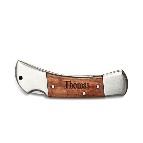 Locking Wood Pocketknife - Personalized - Premier Home & Gifts