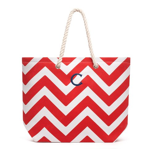 Allie Chevron Tote Bag - Personalized