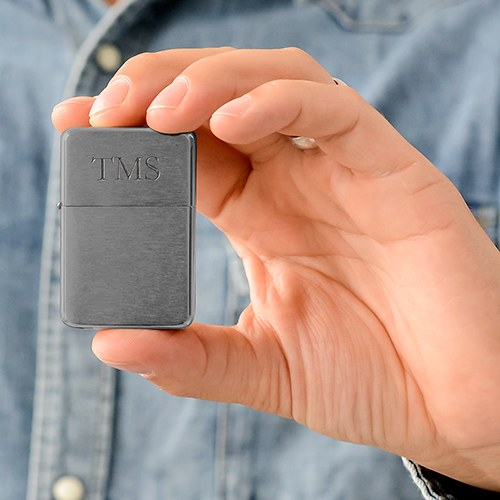 Classic Lighter - Monogram - Gunmetal