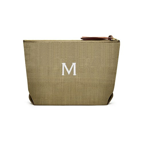 Linen Cosmetic Bags - Olive