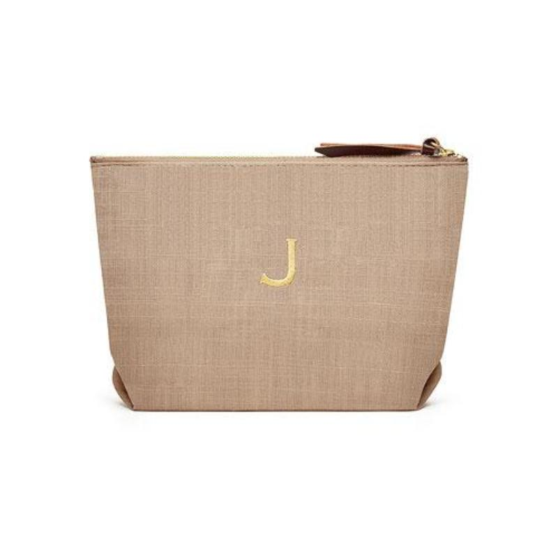 Linen Cosmetic Bags - Putty