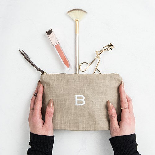 Linen Cosmetic Bags - Makeup Bags - Personalized Gifts