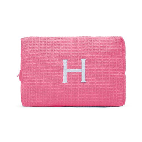 Waffle Cosmetic Bag Large - Hot Pink