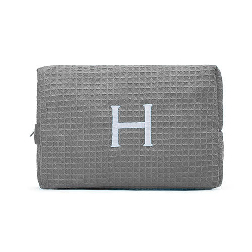 Waffle Cosmetic Bag Large - Gray