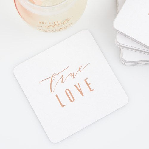 Elegant Cardboard Coasters - Personalized Party Favors