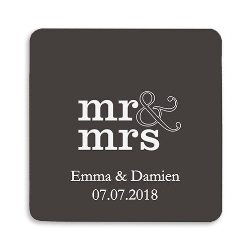 Elegant Cardboard Coasters - Personalized Wedding Favors