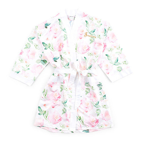 Floral Kimono White Robe - Personalized Premier Home & Gifts