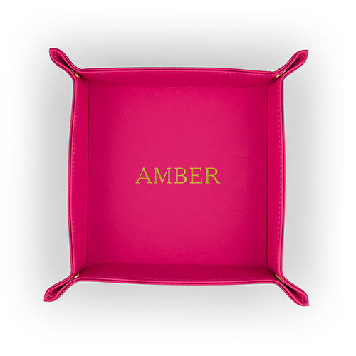 Personalized Vegan Leather Tray - 3 Colors - Premier Home & Gifts