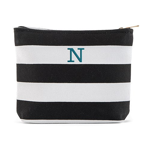 Capri Striped Cosmetic Bag - Personalized Makeup Bag