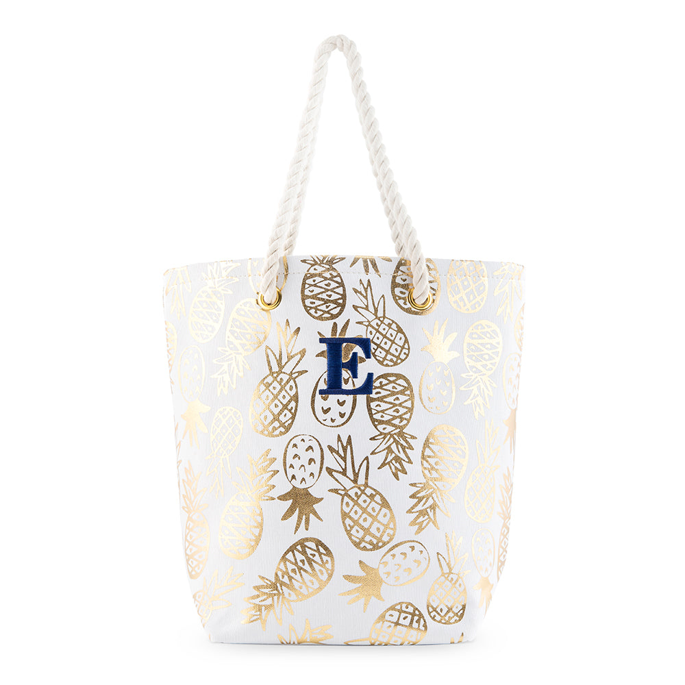 Gold Pineapples Tote Bag - Personalized Gifts for Her