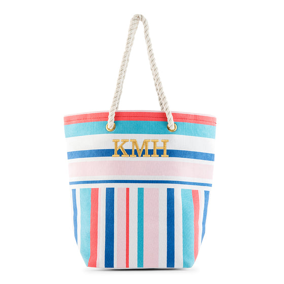 Bright Stripes Tote Bag - Personalized Gifts for Her
