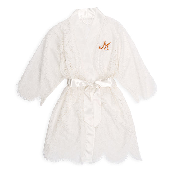 Lace Bridal Robe - Personalized