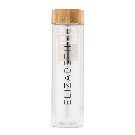 Glass Tea Infuser Travel Cup - Printed Name