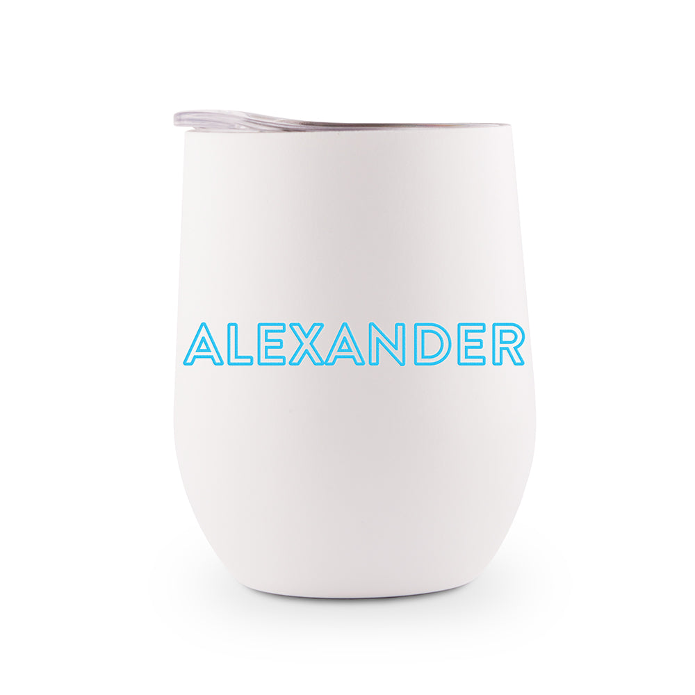 Stainless Steel Wine Tumbler - Disco Letters