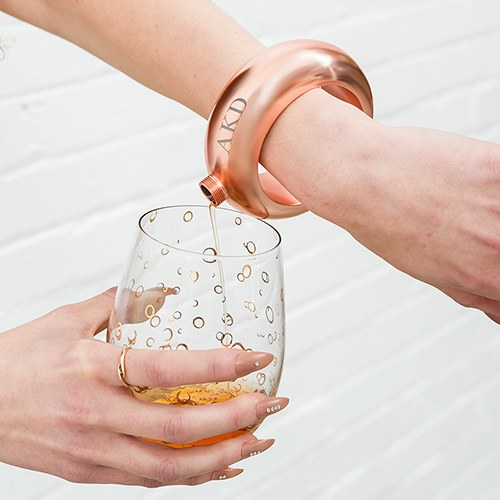 Bangle Bracelet Flask Personalized - Rose Gold