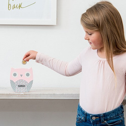 Owl Coin Bank - Personalized