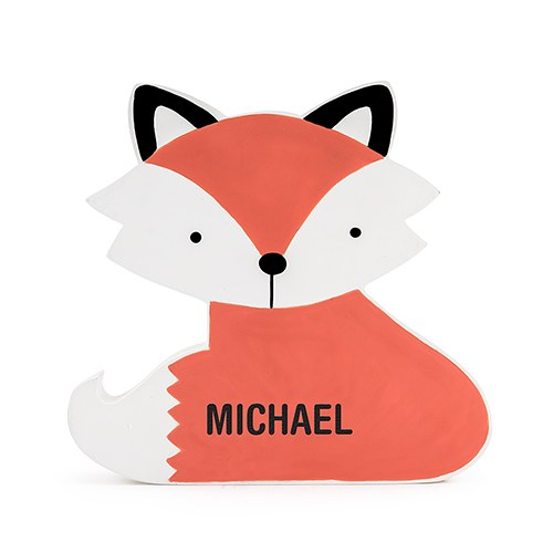 Fox Coin Bank - Personalized Coin Banks - Gifts for Boys