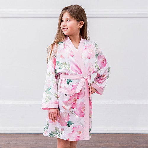Floral Kimono Pink Robe - Tween Gifts Personalized