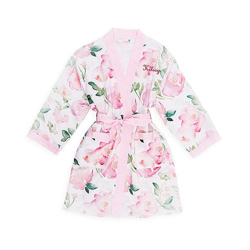 Floral Kimono Pink Robe -Tween Gifts Personalized
