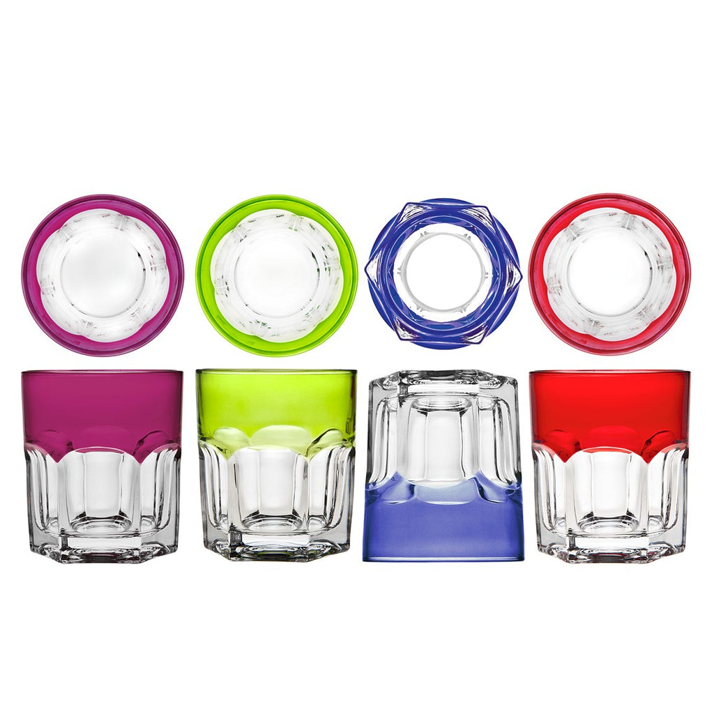 Caribe Colors Double Old Fashioned Glass Set - Premier Home & Gifts