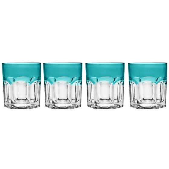 Caribe Turquoise Double Old Fashioned Glass Set - Premier Home & Gifts