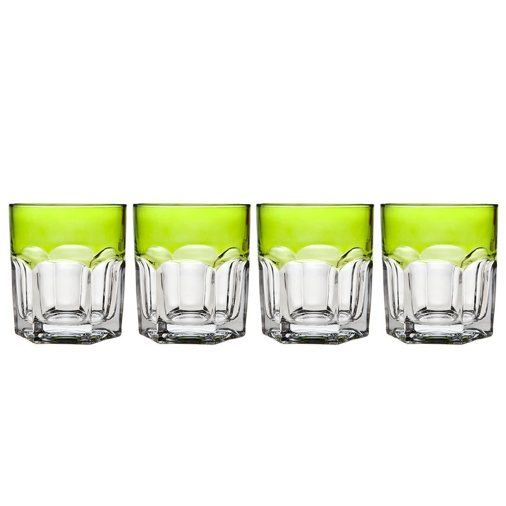 Caribe Lime Green Double Old Fashioned Glass Set - Premier Home & Gifts