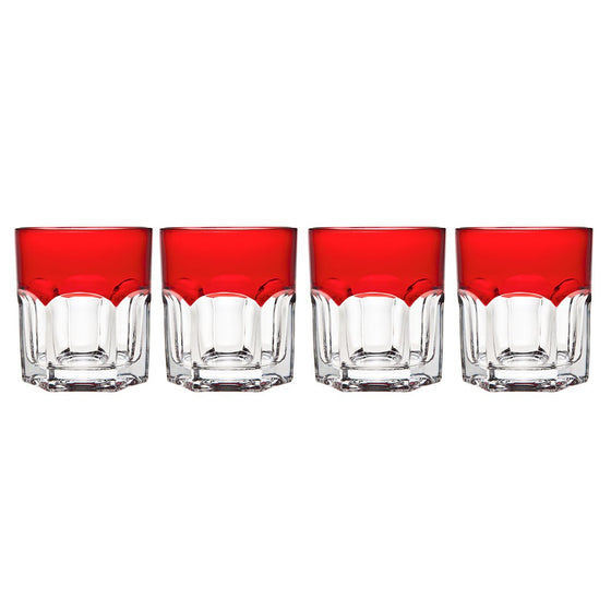 Caribe Red Double Old Fashioned Glass Set - Premier Home & Gifts