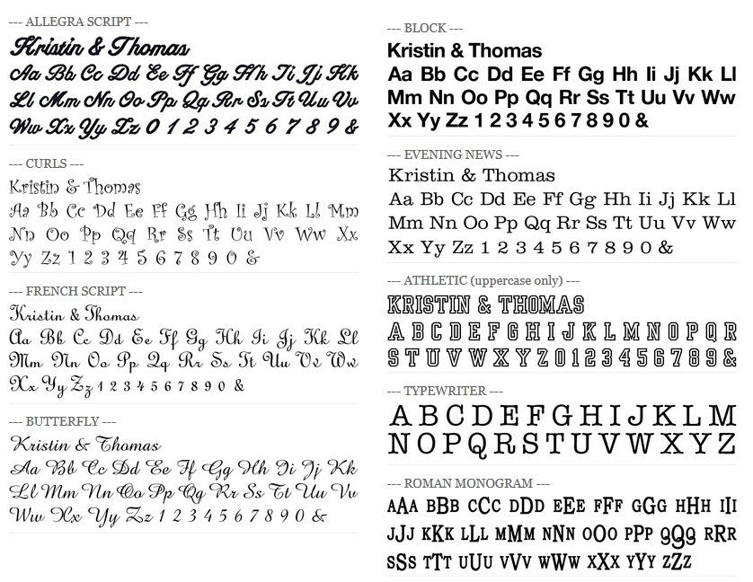 Fonts - Premier Home & Gifts