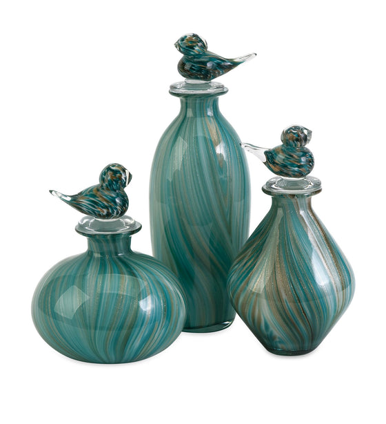 Bellatrix Glass Bird Bottles - Premier Home & Gifts