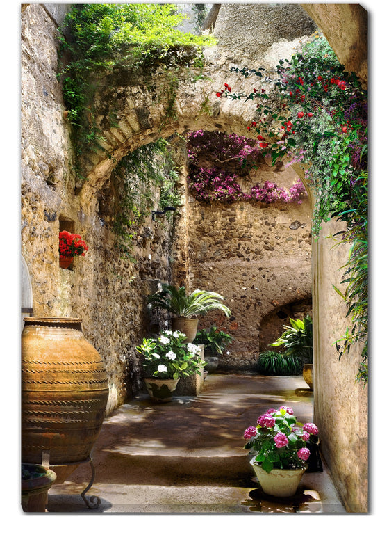 Aragonese Arches Outdoor Canvas Art - Premier Home & Gifts