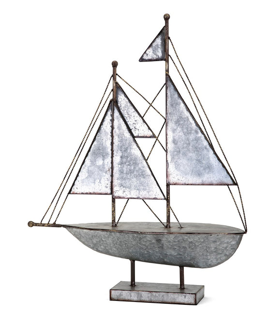 Galvanized Sailboat - Premier Home & Gifts