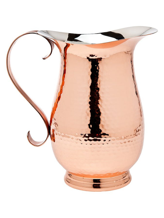 Copper Footed Pitcher - Kitchen and Entertaining Gifts