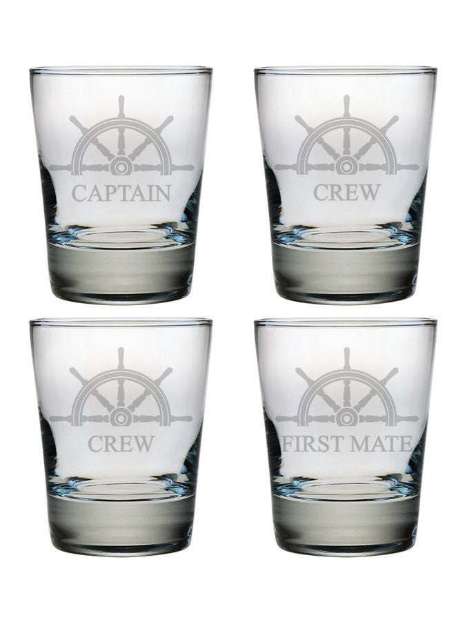 Captain's Collection Double Old Fashioned Glasses ~ Set of 4