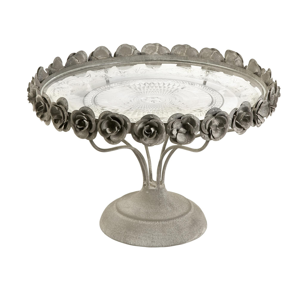 Rose Pedestal Cake Stand - Premier Home & Gifts