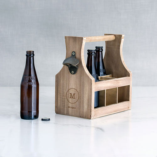 Beer Caddy with Opener - Initial Design - Premier Home & Gifts