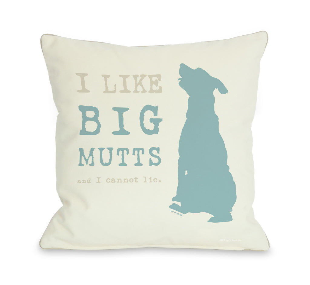 Big Mutts Throw Pillow - Cream