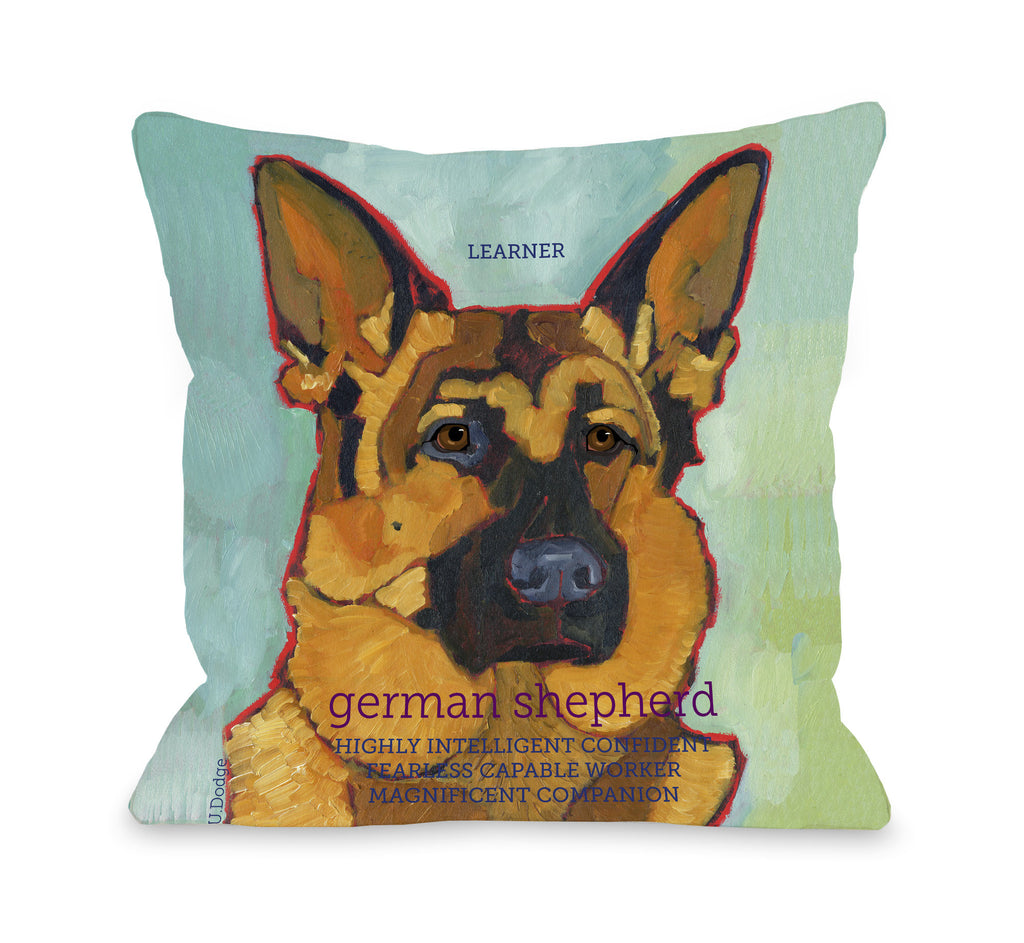 German Shepherd Throw Pillow - Premier Home & Gifts