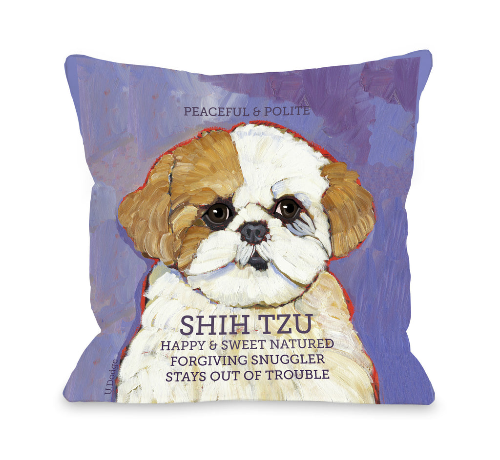 Shih Tzu Brown Throw Pillow - Premier Home & Gifts