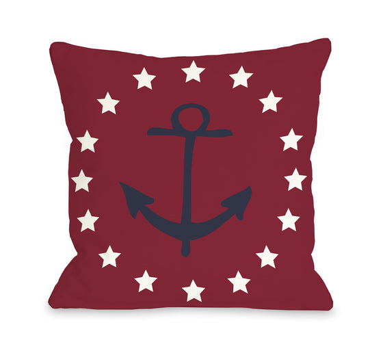 Anchor and Stars Throw Pillow - Premier Home & Gifts