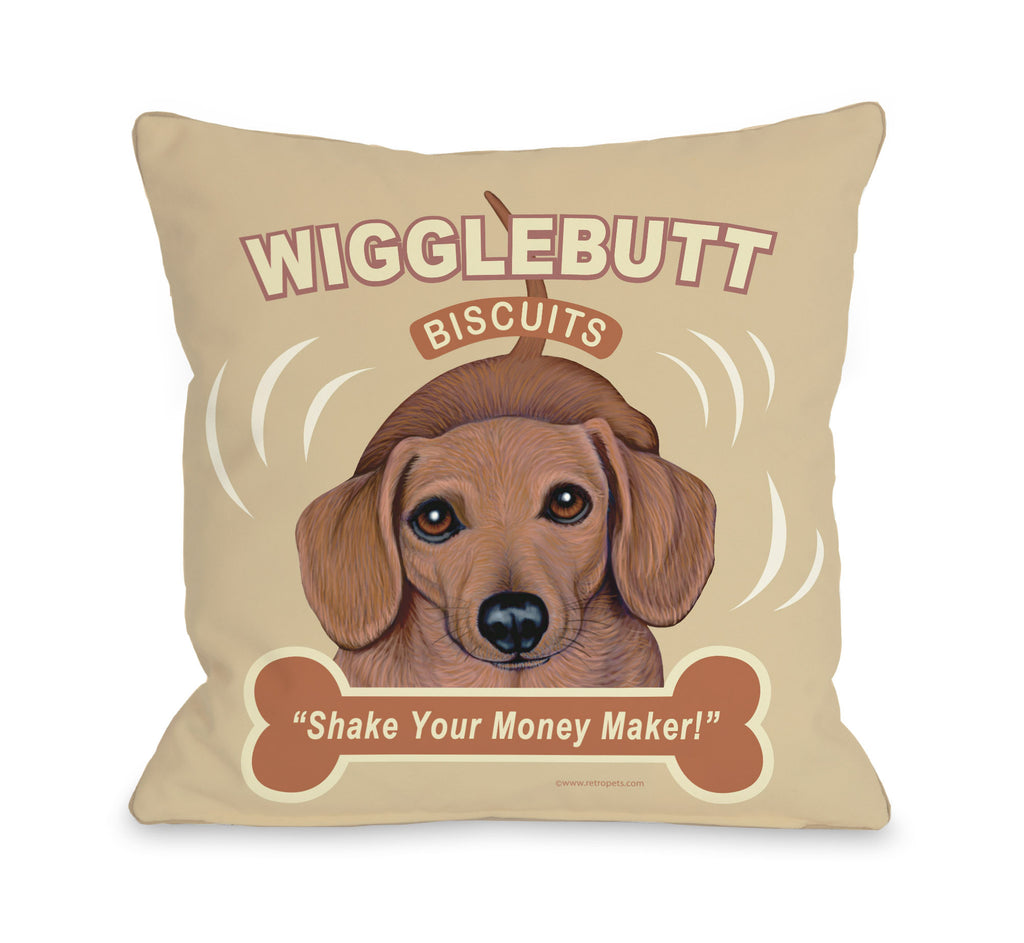 Wigglebutt Throw Pillow - Premier Home & Gifts