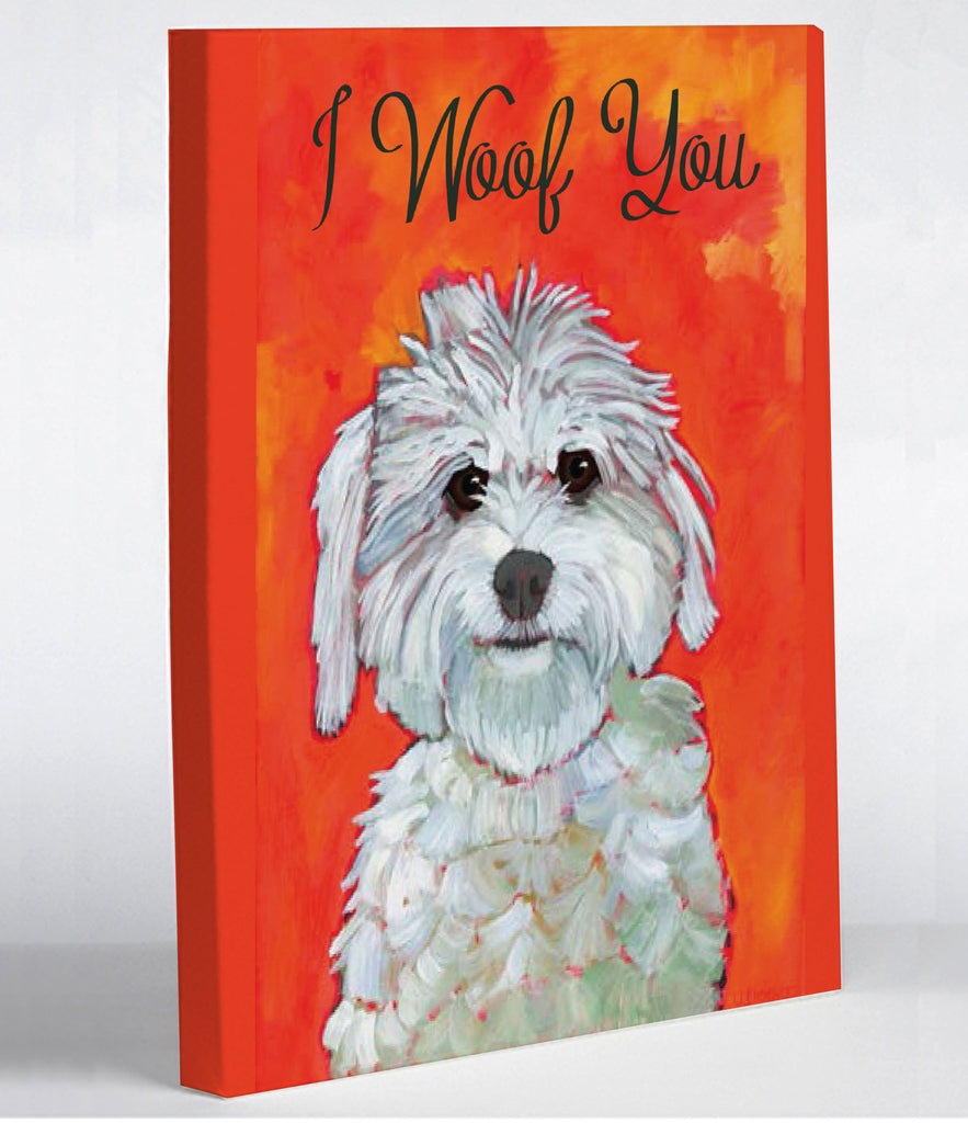 I Woof You Canvas Print - Premier Home & Gifts