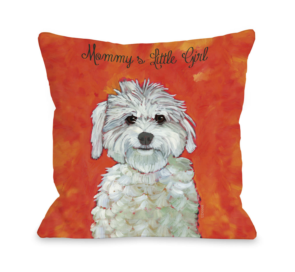 Mommy's Little Girl Throw Pillow - Premier Home & Gifts